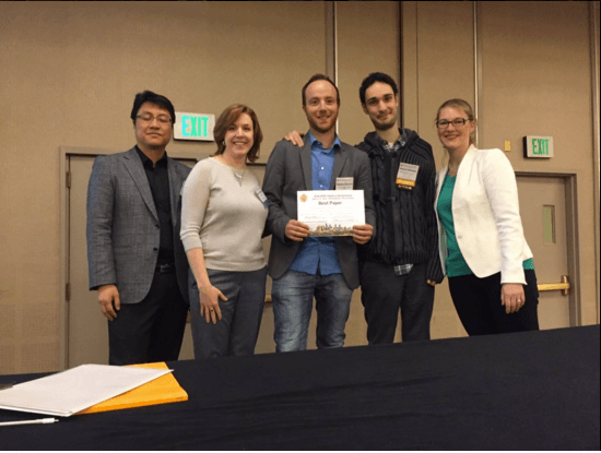 Best Paper Award at Haptics Symposium 2016